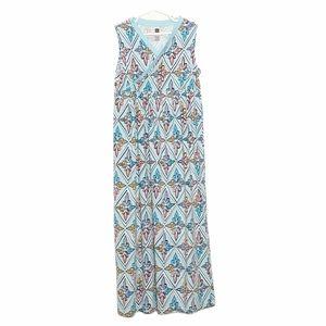 Tea Collection Sleeveless Printed Maxi Dress Blue